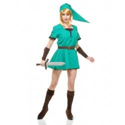 Princesa Guerreira Elfo Traje Feminino para Festa a Fantasia Halloween