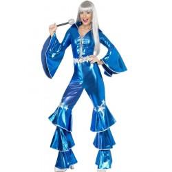 Fantasia Anos 70 Abba Blue Dancing Queen Halloween Festa a Fantasia
