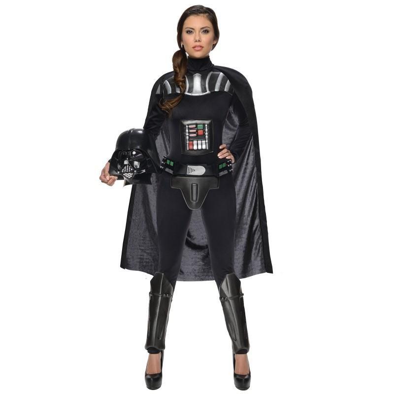 Darth Vader Star Wars Fantasia Feminina Halloween Cosplay Festa a Fantasia