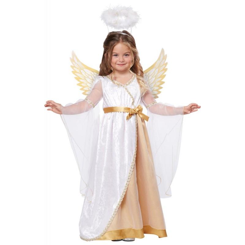 Anjinha Dourada Fantasia Infantil Meninas Festa a Fantasia Halloween Carnaval
