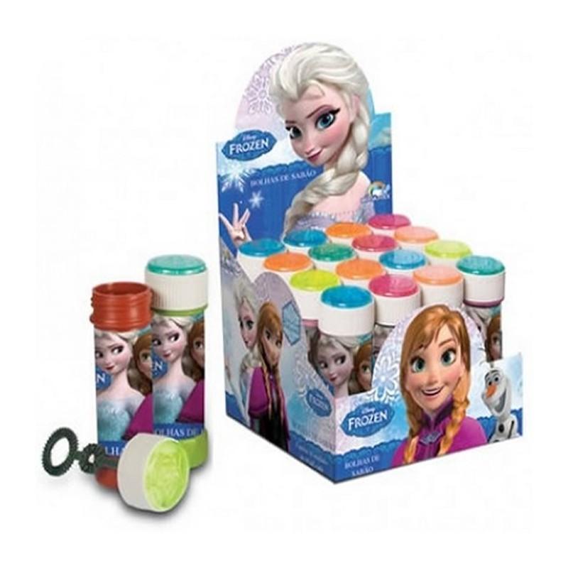 Bolha de Sabão Frozen Caixa com 16un para Festa de Aniversário Infantil