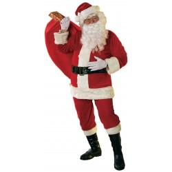 Papai Noel Adulto Fantasia Completa para o Natal com Barba