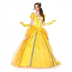 Princesa Bela Longo Fantasia Feminina Festa a Fantasia Halloween