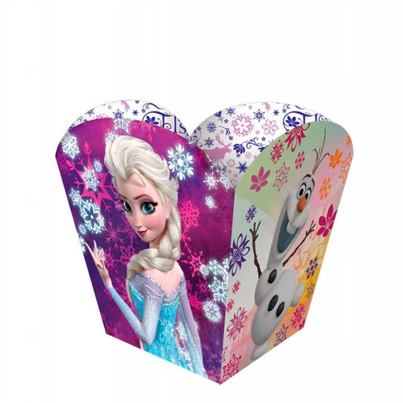 Embalagem para Pipoca Frozen para Festa de Aniversário Infantil 12un