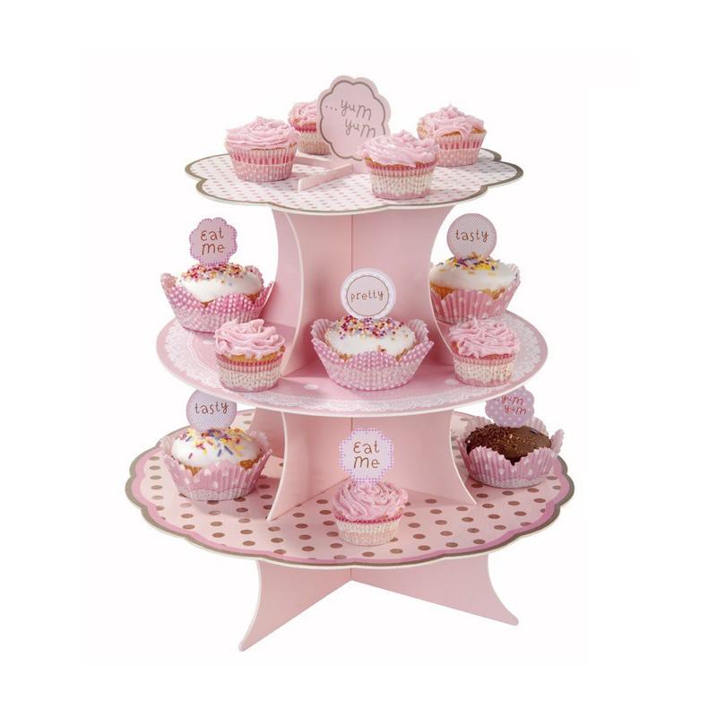 Bandeja Suporte para Cupcake Mdf Festa Infantil Chá de Bebê