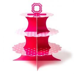Bandeja Suporte para Cupcake Vermelho Plástico