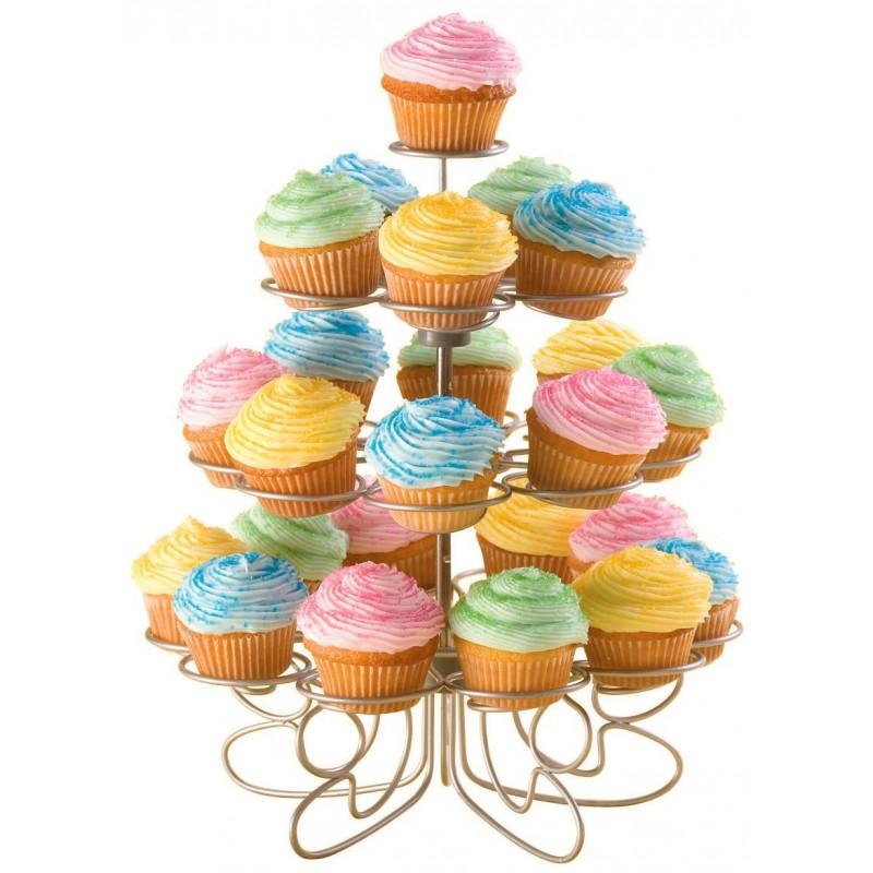 Suporte Aramado Inox para Cupcake Aniversário Festas Casamentos