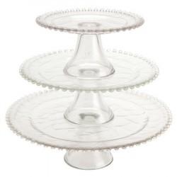 Suporte Bandeja para Cupcake em Vidro para Festa e Casamento