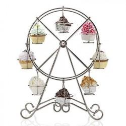 Suporte para Cupcake de Ferro Forma de Roda Gigante para Casamento ou Festa Infantil