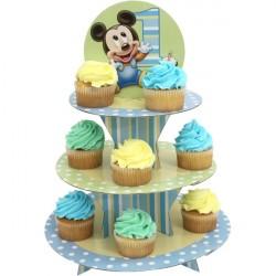 Suporte para Cupcake Mickey Baby Festa Infatil 1 Ano