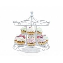 Suporte para Cupcake Carrosel Ferro Branco Casamento Aniversário