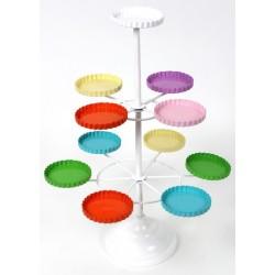 Suporte para Cupcake de Ferro Colorido para Festa de Aniversário Infantil