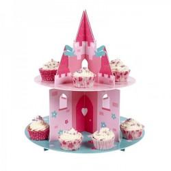 Suporte para Cupcake Castelo Rosa Decoração de Festa Infantil
