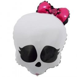 Balão Metalizado Monster High Caveira Festa Infantil