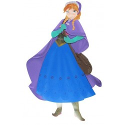 Painel Anna Frozen EVA Decoração de Festa Infantil 65cm x 52cm