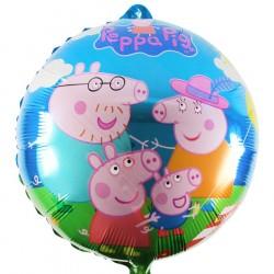 Balão Metalizado Peppa Pig Festa Infantil 5un