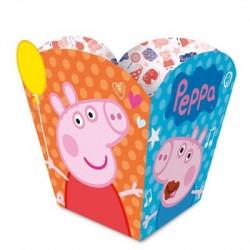 Embalagem para Doces Pipoca Lembrancinha Peppa Pig 12un Festa Infantil