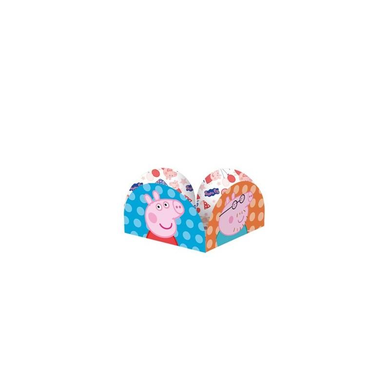 Embalagem Porta Forminha Peppa Pig para Docinho Festa Infantil 50un