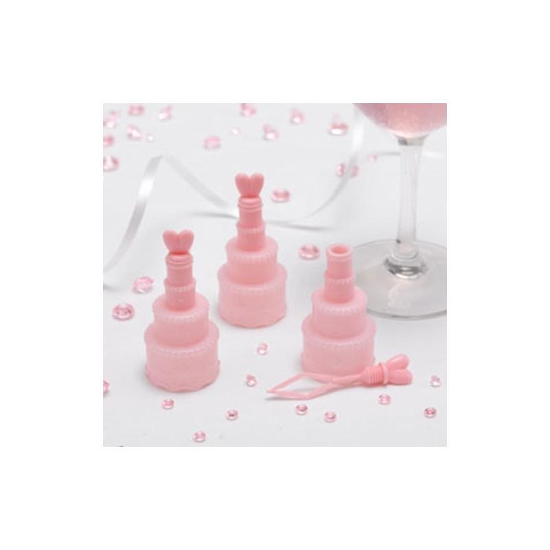 Bolhas de Sabão Bolinho Rosa para Casamento Lembrancinha 24un