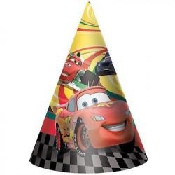 Chapéuzinho de Aniversário Carros Festa Infantil Meninos 24un