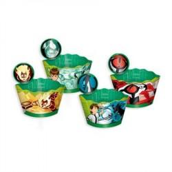 Wrapper para Cupcake Ben 10 Festa Infantil Meninos 12un