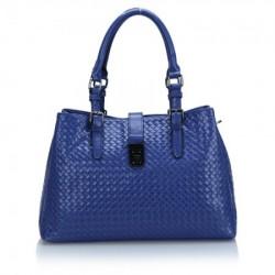 Bolsa Feminina Azul Couro
