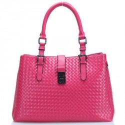 Bolsa Feminina Rosa Pink Couro