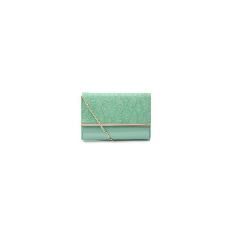 Bolsa Envelope Verniz Verde para Festa