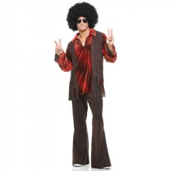 Hippie Black Power Fantasia Masculina Carnaval Halloween Festa a Fantasia
