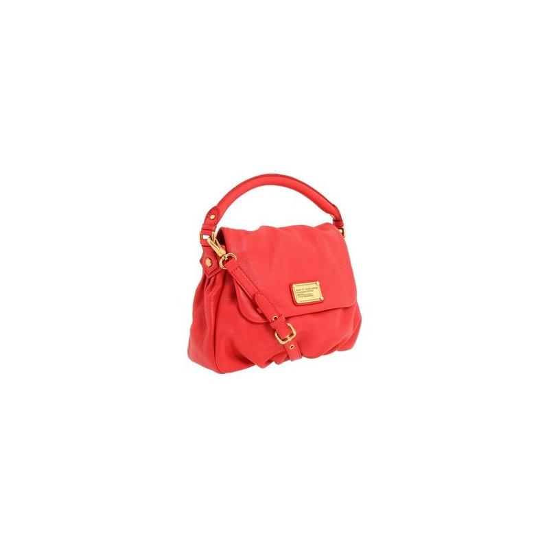 Bolsa Carteiro Feminina Vermelha com Dourado