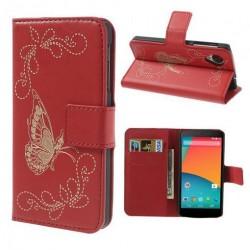 Carteira Feminina para Smartphone Vermelha Borboleta
