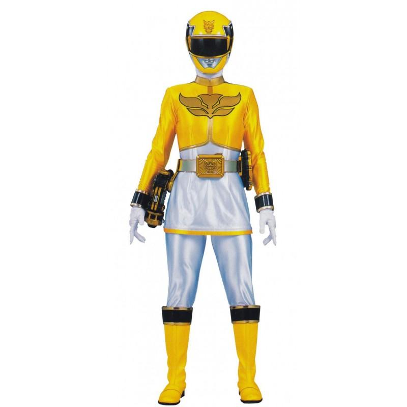 Fantasia Luxo Power Ranger Megaforce Amarelo Adulto Feminina