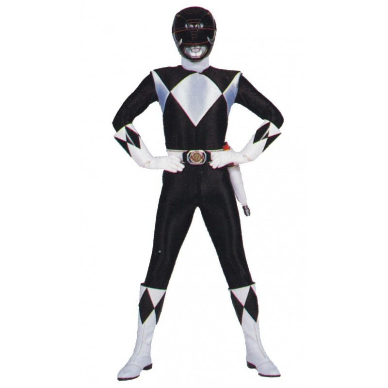 Fantasia Power Ranger Preto Adulto Masculino