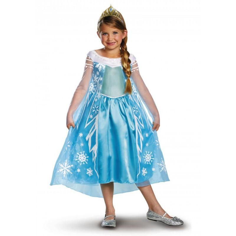 Fantasia Luxo Elsa Frozen Infantil Meninas
