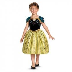 Fantasia Luxo Anna Frozen Infantil Meninas