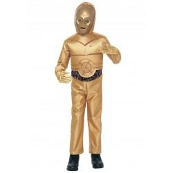 Fantasia C3PO Star Wars Infantil Meninos Halloween