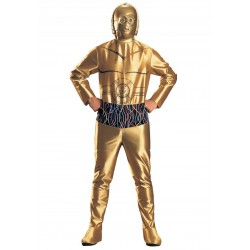 Fantasia C3PO Star Wars Masculina Adultos
