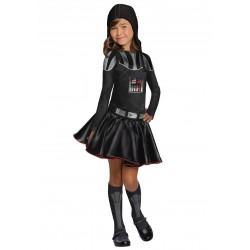 Fantasia Darth Vader Star Wars Infantil Meninas Halloween