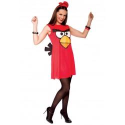 Fantasia Angry Birds Vermelho Feminina Adulto