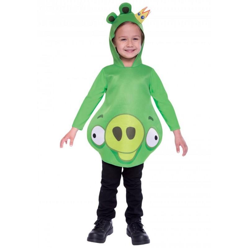 Fantasia Porco Rei Angry Birds Infantil Meninos