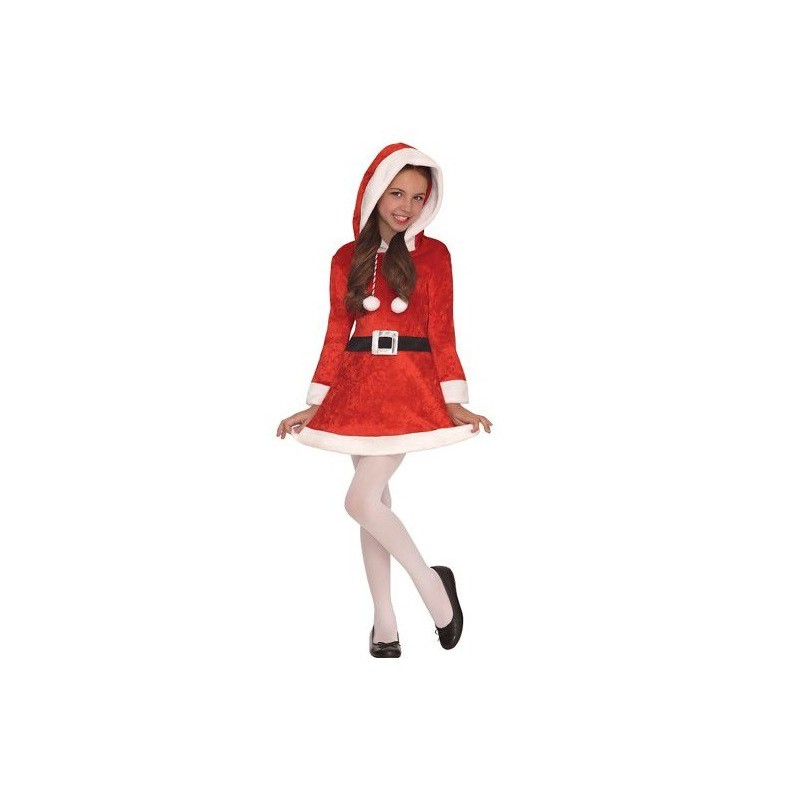 Fantasia de Natal Mamãe Noel Infantil Meninas