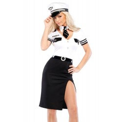 Fantasia Comissária de Bordo Aeromoça Sexy Feminina