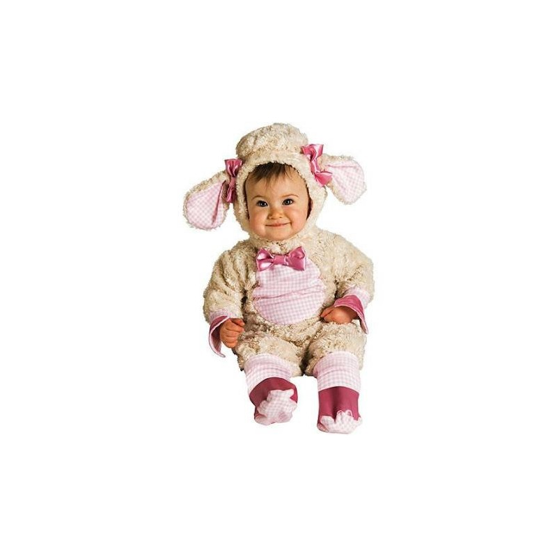 Fantasia Ovelha Rosa Infantil Bebês Meninas