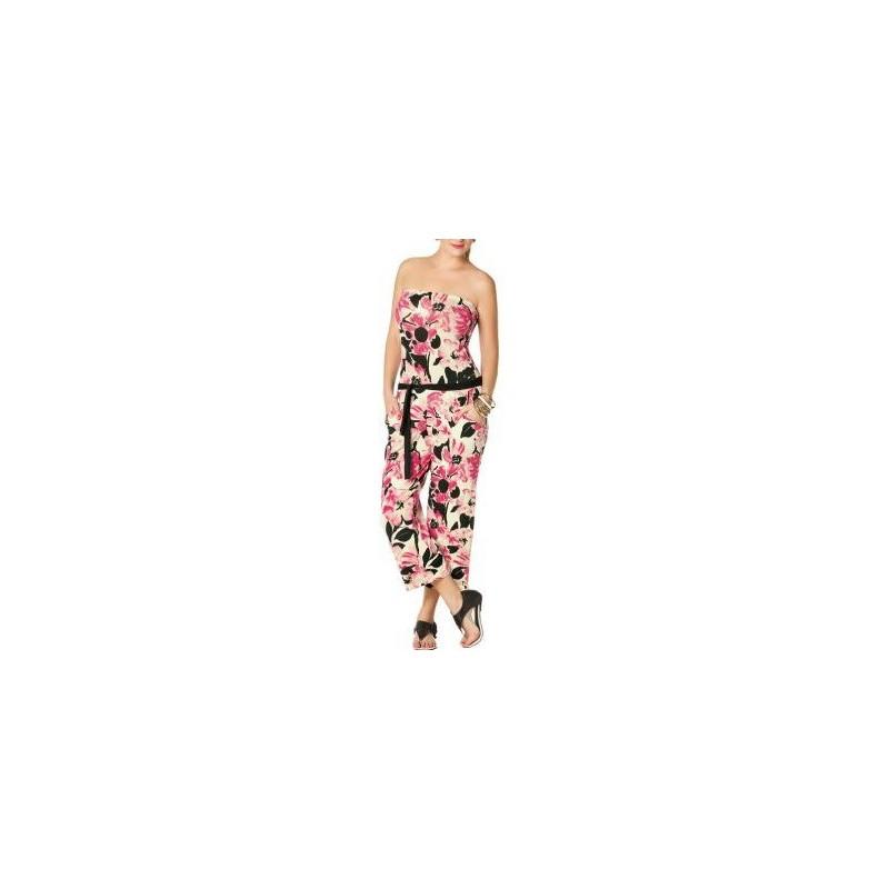 Macacão Feminino Longo Estampa Floral Tomara que Caia