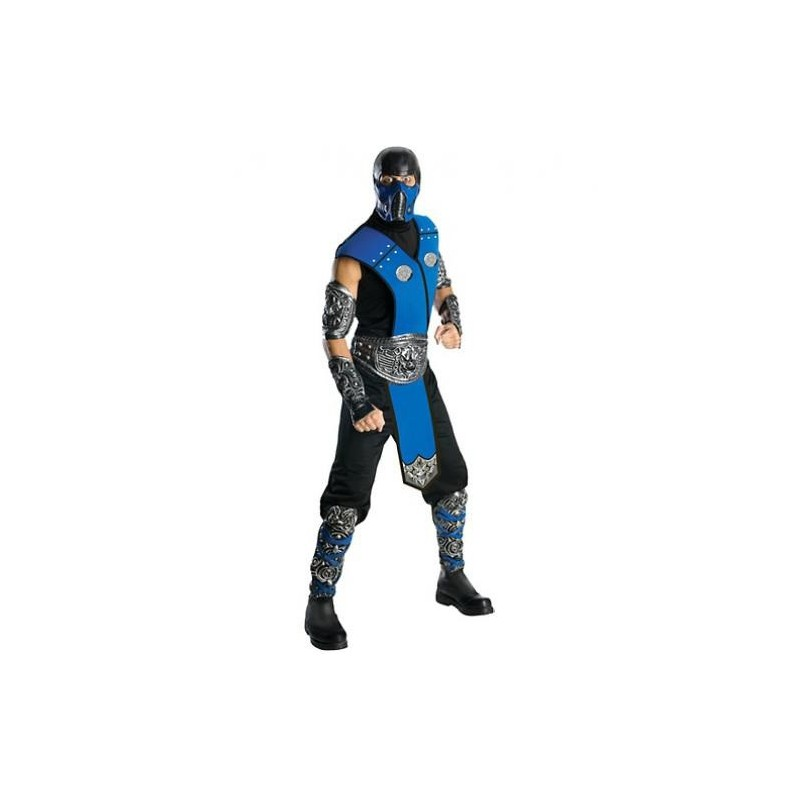 Fantasia Sub-Zero Mortal Kombat Masculina Adulto