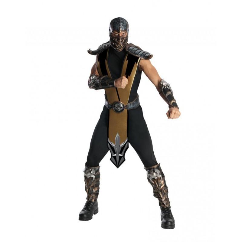 Fantasia Scorpion Mortal Kombat Adulto Masculina Cosplay