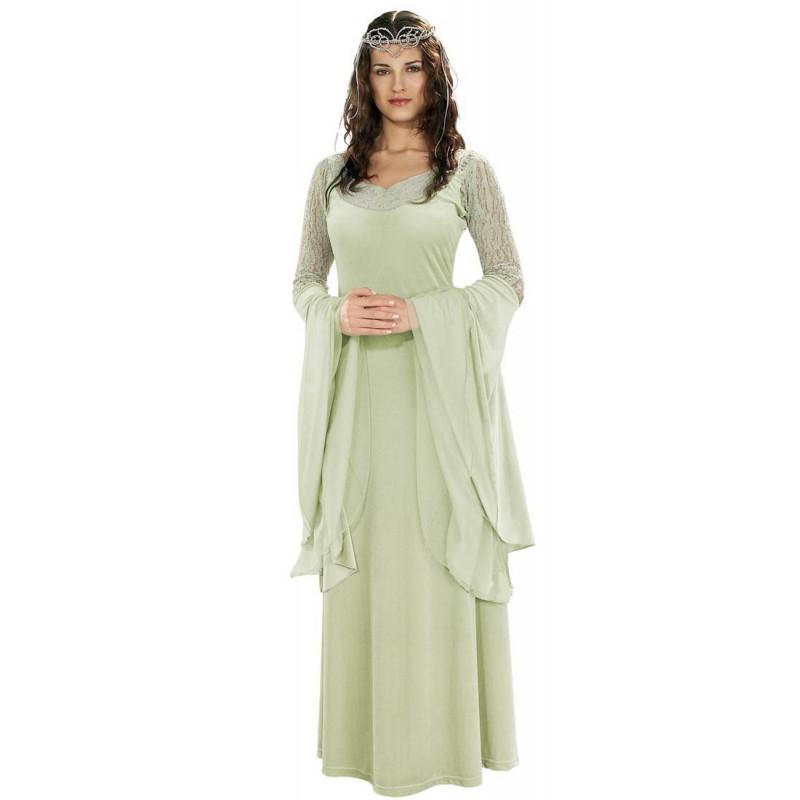 Fantasia Feminina Arwen O Senhor dos Anéis Elfa Festa Halloween Cosplay