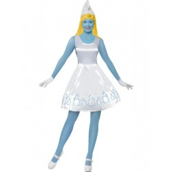 Fantasia Feminina Smurfette Os Smurfs Festa Halloween