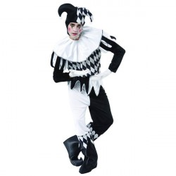Fantasia Arlequim Masculina Adulto Festa Halloween