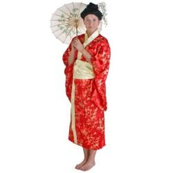 Fantasia Feminina Gueixa Mulher Oriental Festa Halloween